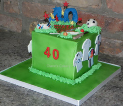 40th Sports Cake