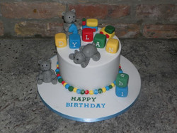 Teddy Bears First Birthday Cake