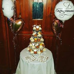 Engagement Cupcake tower