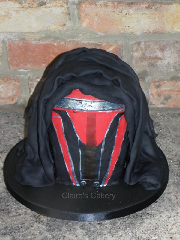 Darth Revan mask Cake