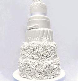 Ruffles and bows cake
