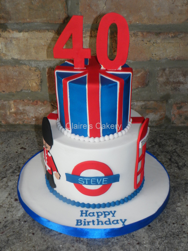 40th Patriotic Birthday Cake