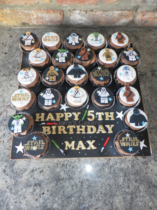 Star Wars Lego Cupcake board