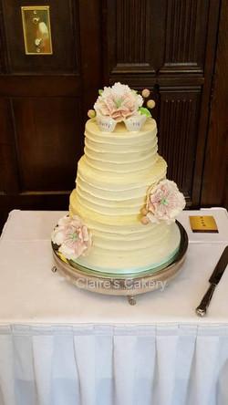 Buttercream peony cake