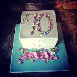 70th flower cake