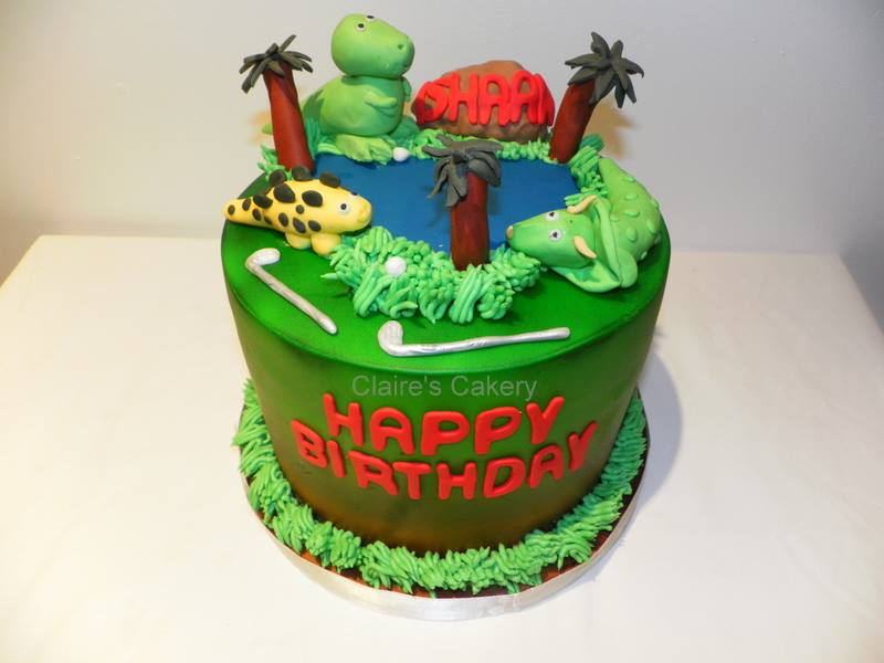 Miniature Golf Cake