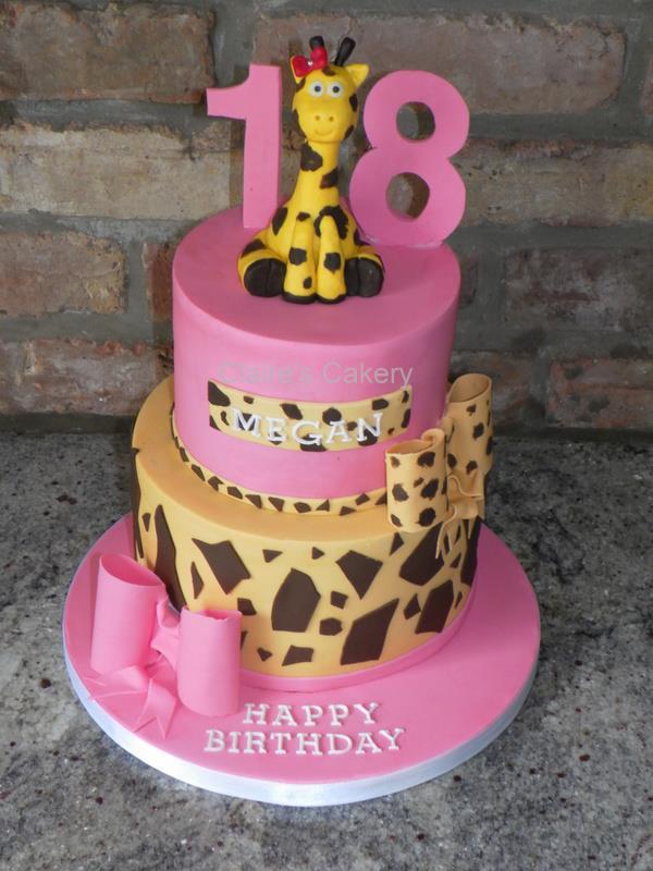 Girlie Giraffe Cake