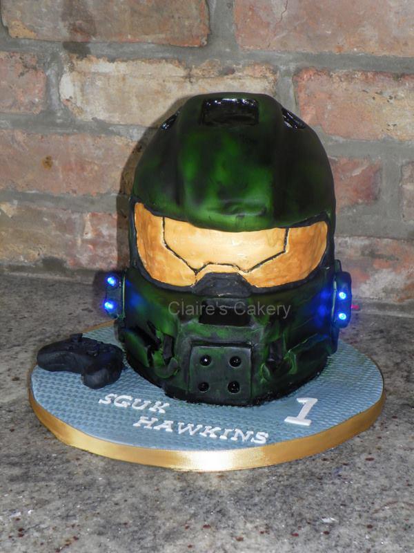 Halo Helmet Cake