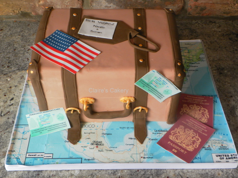Moving Abroad Cake