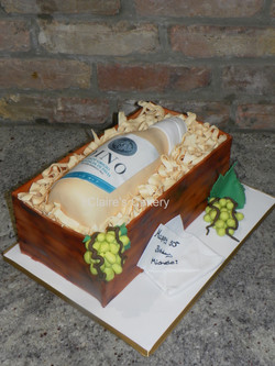 white wine bottle cake