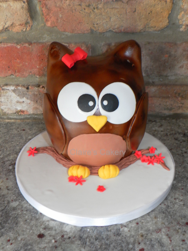 Mrs. Owl Cake