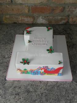 Christmas No.1 Cake