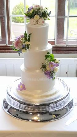 Easter Pastel Wedding cake