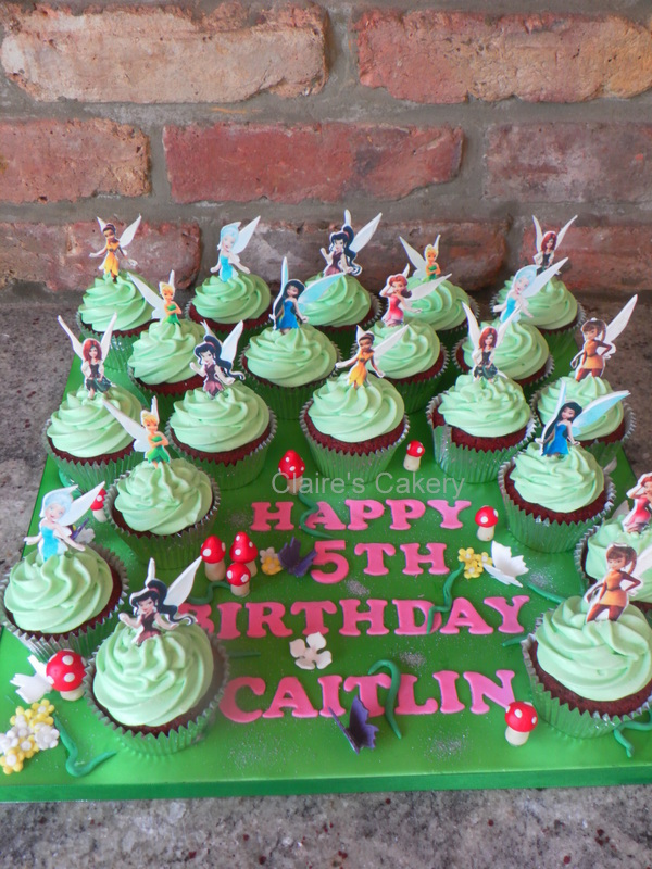 Tinkerbell and Friends Cupcakes