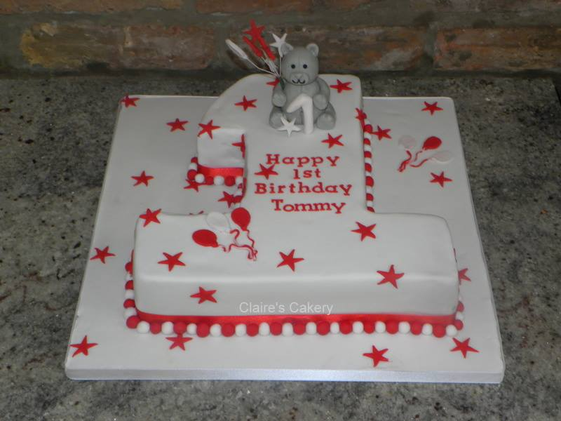 Teddy No.1 Cake