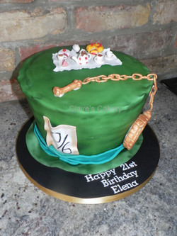 Mad Hatters hat cake
