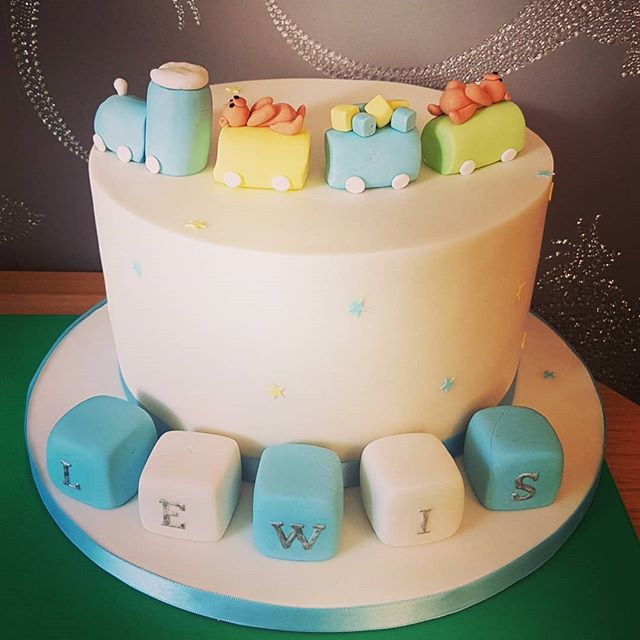 Train first birthay cake