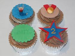 gymnast cupcakes