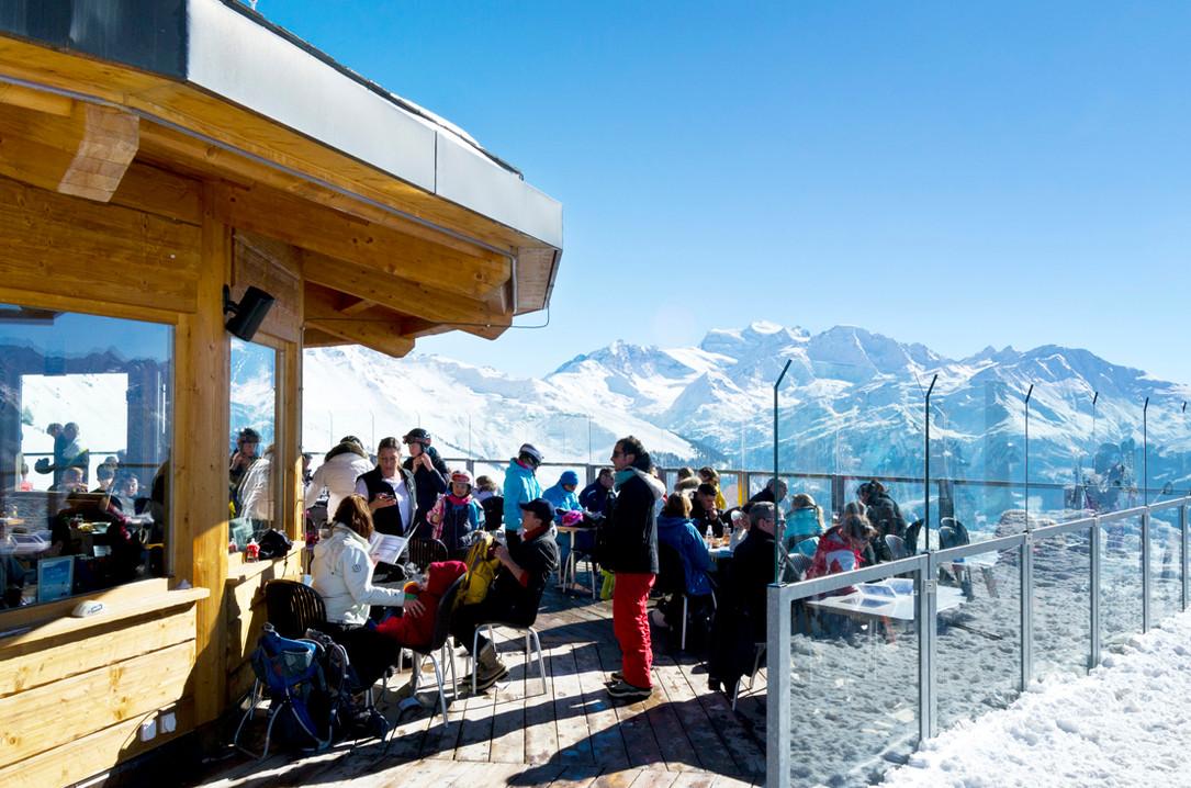 Terrasse panoramique en hiver