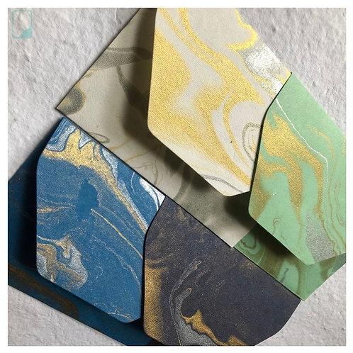 Handmade Marble Envelopes (Set of 5)