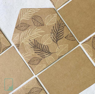 Tropical Kraft Notecard Set