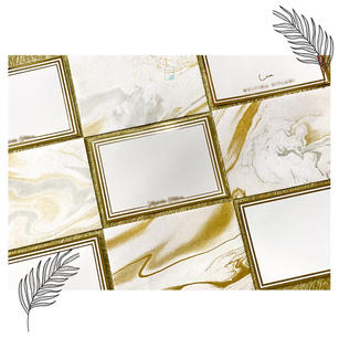 Marble + Personalised gold foiled notecard set