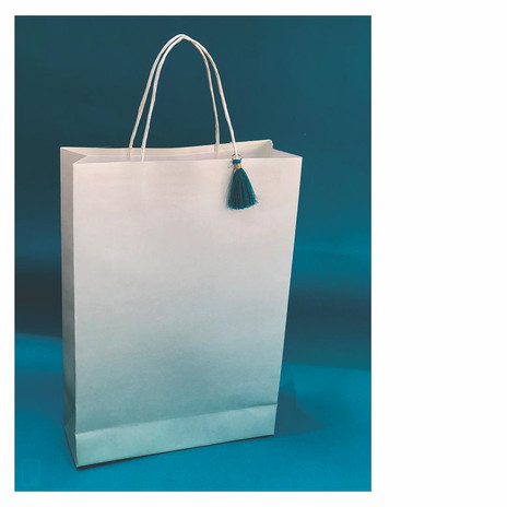 Ombre Tote Bag (Turquoise)