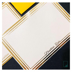 Personalised Gold Foiled Notecards