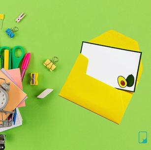 Avocado Emoji Notecard Set
