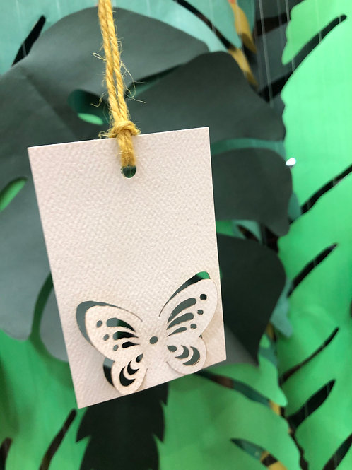 3D Butterfly Gift Tags (Set of 5)