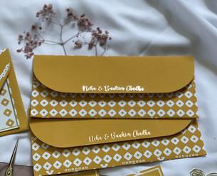 Personalised Bandhani Money Envelopes