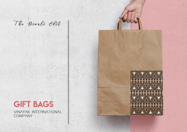 Kraft Tribal Print Gift Tote Bag