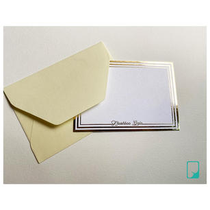 Pastel + Gold Foiled Personalised Notecard Set