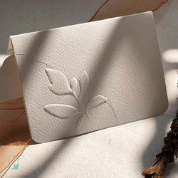Leaf Letterpressed Notecards