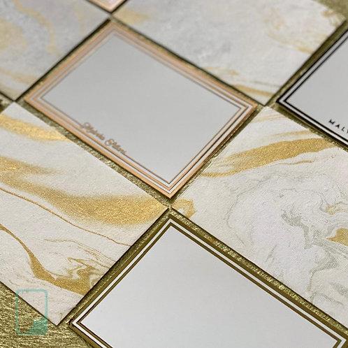 Personalised Gold Notecard Set (Set of 8)