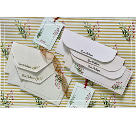 Personalsied floral stationery set