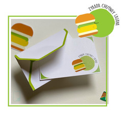 Vadapav Emoji Notecard Set