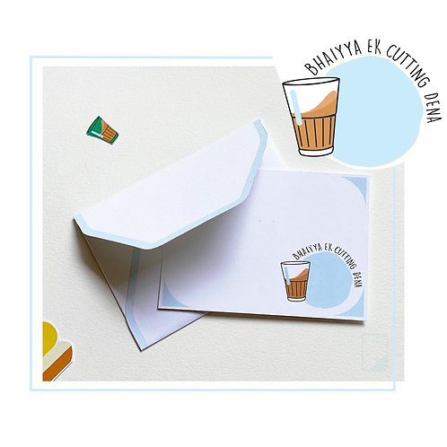 Cutting Chai Notecard Set (Set of 5)