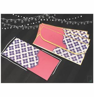 Royal Pink Money envelopes