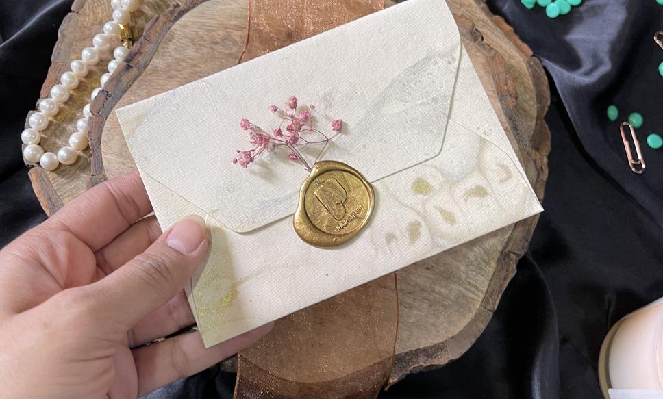 Round wax stamp
