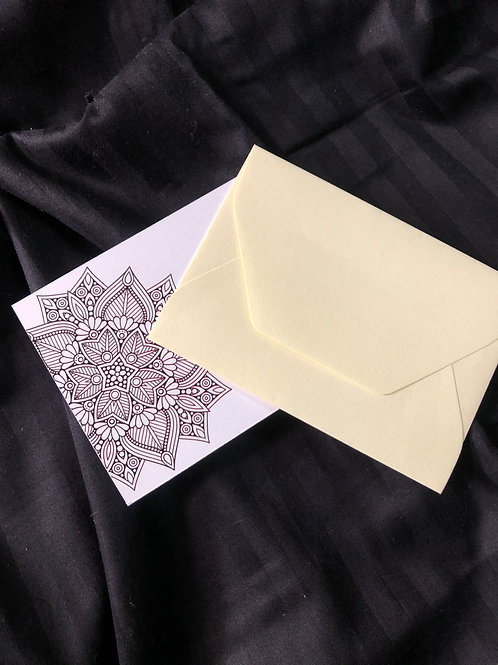 DIY Mandala Notecard Set (Set of 5)