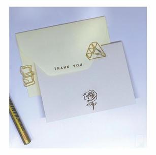Pastel Thankyou & Rose Notecard set