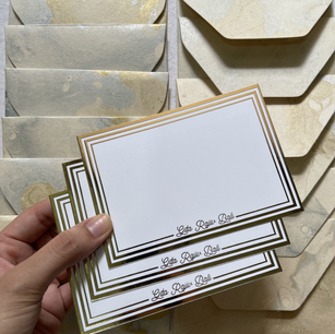 Marble + Gold Foiled notecard set