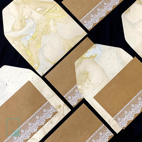 Marble lace Notecards (Set of 5)