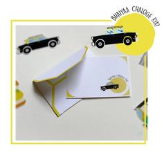 Taxi Emoji Notecard Set