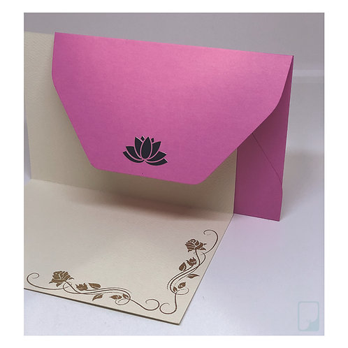 Lotus Notecard Set (Set of 5)