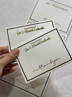 Personalised Letterpressed Notecards
