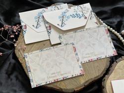 Personalised Floral Notecard Set
