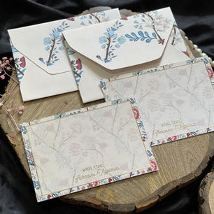 Personalised Garden Stationery Notecard Set