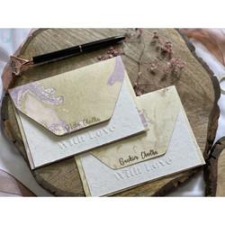 Personalised Marble & Letter pressed Notecard Set